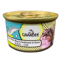 Grandee貓罐頭 吞拿+白魚 80g