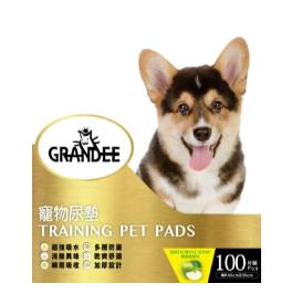 Grandee 寵物尿墊 (100片裝 45CM*30CM 1.5呎 青蘋果味)