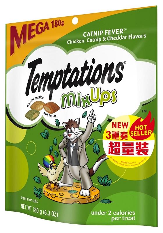 Temptations 三重奏貓小食 雞,芝士,貓草 超量裝 180g