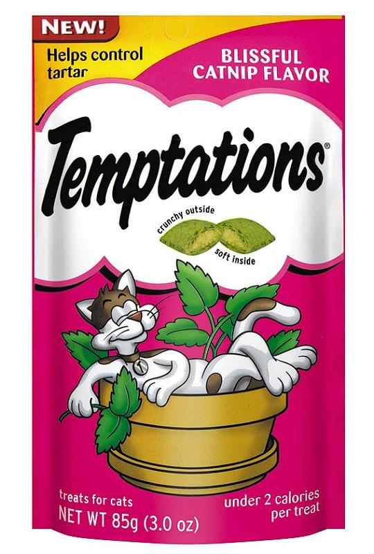 Temptations 防牙石貓小食貓草 85g