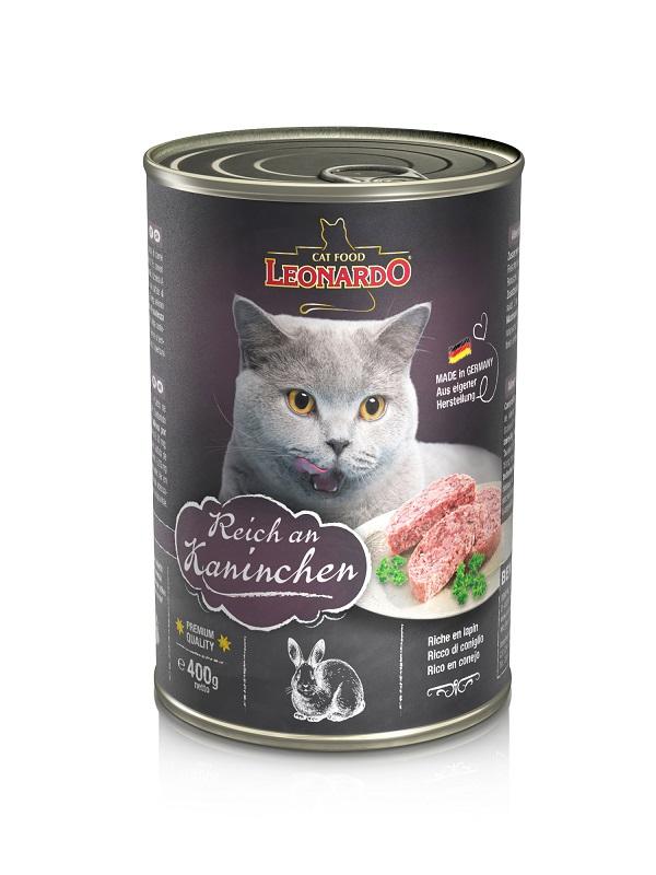 Leonardo兔肉貓貓罐頭 400G