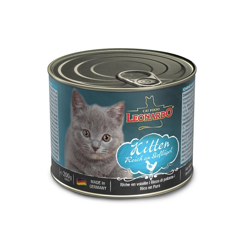 Leonardo純家禽貓貓罐頭 (幼貓專用) 200G