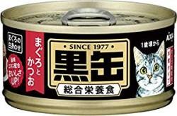 日本黑罐貓罐頭 吞拿魚+鰹魚 80G