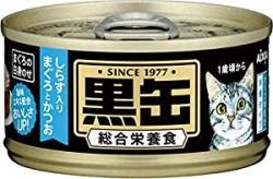 日本黑罐貓罐頭 吞拿魚+鰹魚+白飯魚 80G