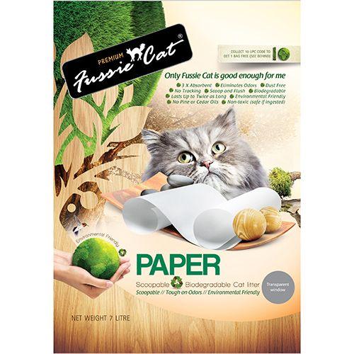 Fussie Cat Natural Paper Litter 紙砂原味 7L