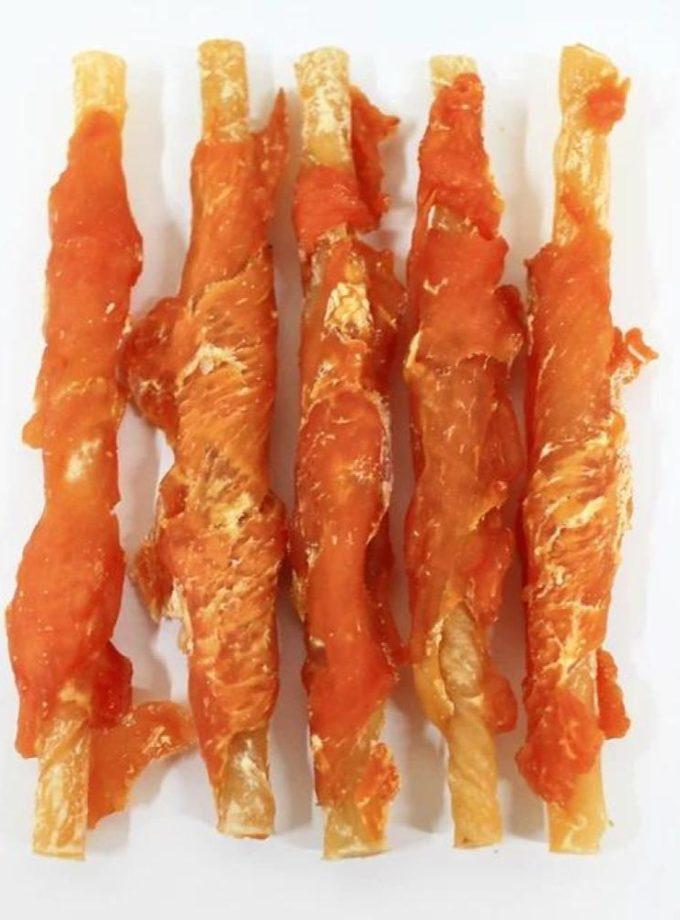愛犬寵物小食系列 - 雞肉色原色牛皮棒