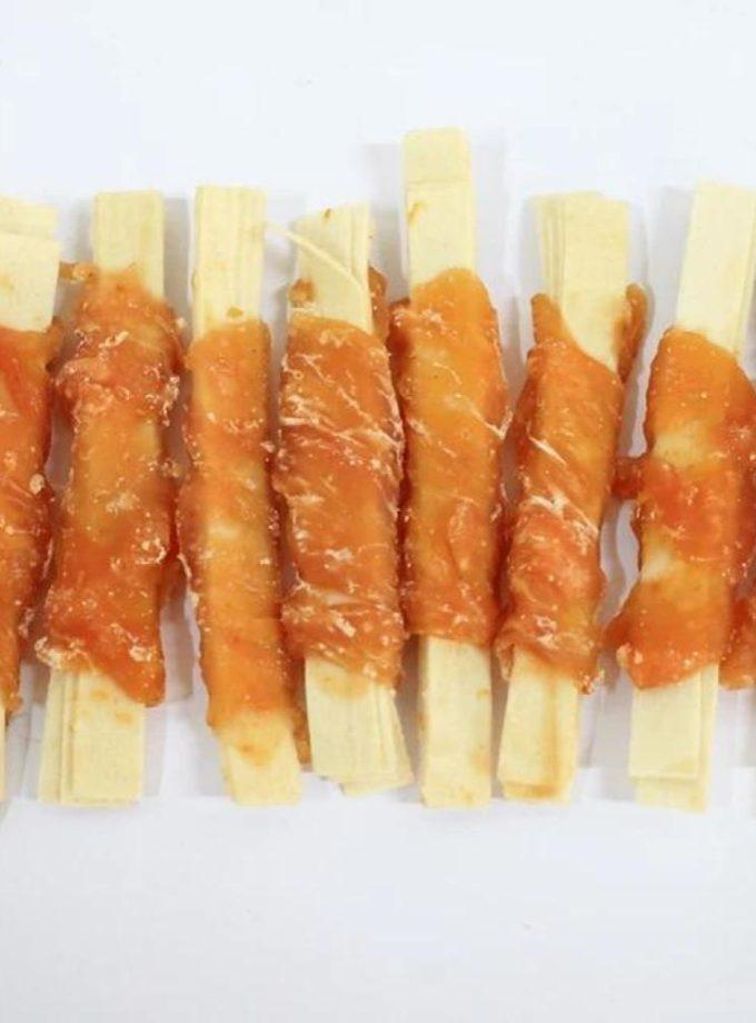 愛犬寵物小食系列 - 雞肉包鱈魚絲